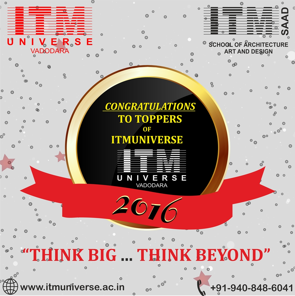 TOPPERS OF ITMUNIVERSE – 2016